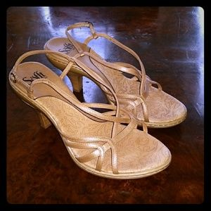 Sofft Beige Leather Sandals - Size 10W